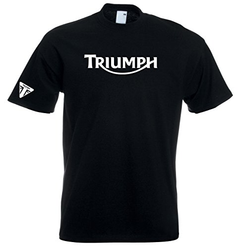 Juko Triumph T Shirt Motorcycle Motorbike 1335 Retro Top. Black, X-Large