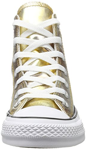 Converse Unisex Voksen Cta'er Hi Sølv / Guld / Hvid Høj Sneaker Flerfarvede (sølv / Guld) 5ER9Mw