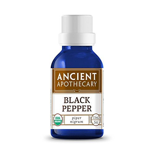 Black Pepper Organic Essential Oil from Ancient Apothecary, 15 mL - 100% Pure and Therapeutic Grade