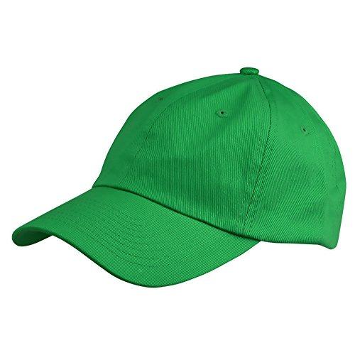 Dalix Unisex Unstructured Cotton Cap Adjustable Plain Hat  Green