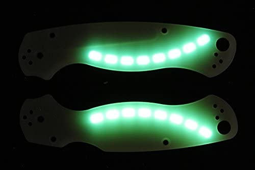 Amazon.com: Glowing G10 Jade Ghost Escalas para Spyderco ...