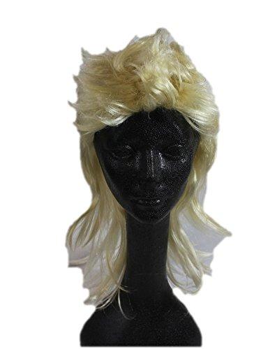 [Blond Blonde Mullet Wig Western Hillbilly Rock Star Costume Accessory Redneck] (Redneck Costumes For Women)