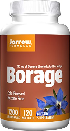 Jarrow Formulas Borage GLA 240 , Supports Women's Health, 1200 mg, 120 Softgels