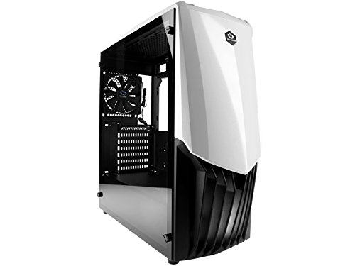 Raidmax GAMA PC Liquid Cooling Ready Gaming Case with Tempered Glass Window (White) (Raidmax Computer Case)