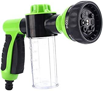 Yosoo Car Foam Cannon Hose Sprayer Dispenser Blaster Wash Gun 8 Watering Patterns Cars Washing Cleaning Pets Shower Plants Watering Supplies