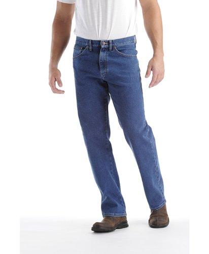 Waist Comfort Jeans Lee (LEE Men's Big-Tall Regular Fit Straight Leg Jean, Pepper Wash Stretch, 44W x 32L)
