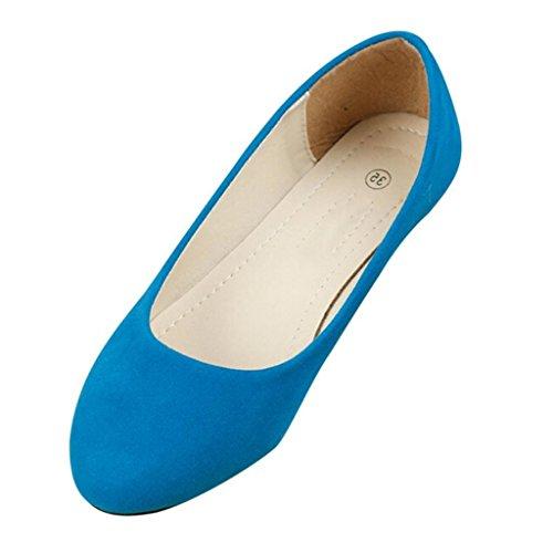 Semplice Flats Cielo Scarpe Comode Stile Donne Pantofole da nbsp;Pompe Blu Minetom 7cnaUFfW