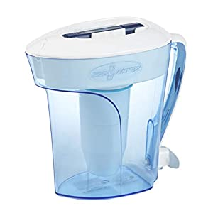 ZeroWater ZP-010, 10 Cup Water Filter Pitcher with Water Quality Meter