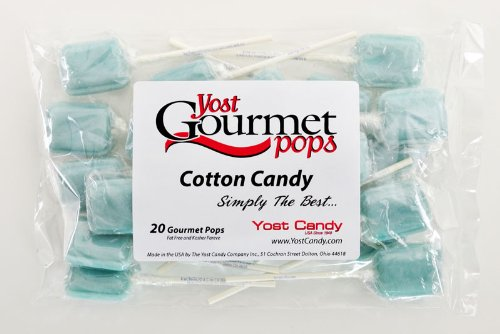 Yost Gourmet Pops, 20 Count Bag - Cotton Candy