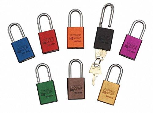Orange Lockout Padlock, Alike Key Type, Aluminum Body Material, 18 PK by American Lock (Image #1)