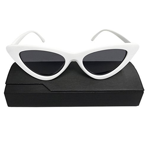 f86d1f5a2c Image Unavailable. Image not available for. Color  Cat Eye Sunglasses for Women  Clout Goggles Retro Vintage Mod Style Sunglasses White