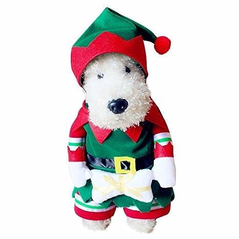 kungfu Mall Traje de Navidad para Perro y Gato, Traje de ...