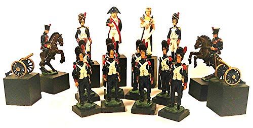 (Revolutionary War British American Soldiers Uniformed Military Chess Pieces Set - No Board)