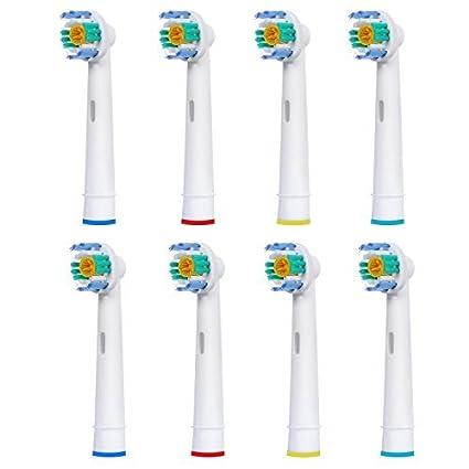 8 uds (2x4) de cabezales para cepillos de dientes WorldGen. Oral B 3DWhite