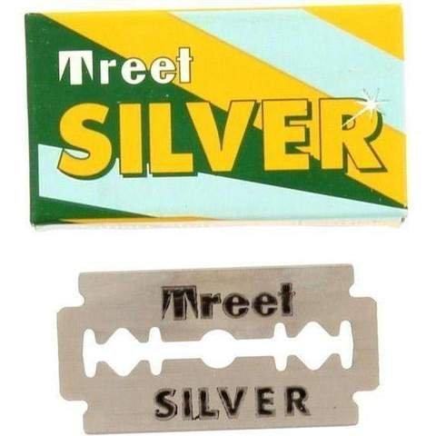 Treet Silver Double Edge Razor Blades, 100 Pack