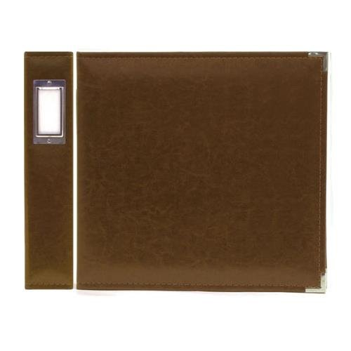 (8.5 x 11-inch Classic Leather 3-Ring Album by We R Memory Keepers   Dark Chocolate, includes 5 page protectors)