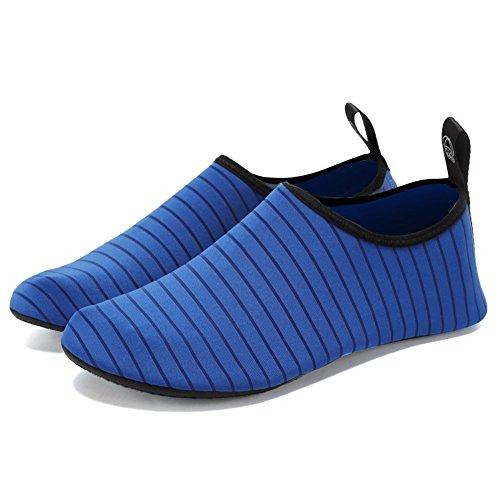 Fanture Léger Femmes Et Hommes Aqua Chaussures De Leau À Séchage Rapide Reniflard Peau De Sport Aux Pieds Nus Anti-dérapant Multifonctionnel L.blue