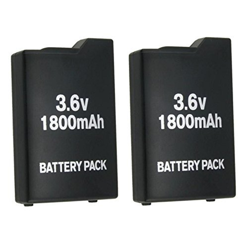 2x New 3.6V 1800mah Rechargeable Battery for Sony PSP-110...