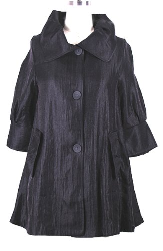 ''The Swing Jacket'' - Fun & Flattering Fashion - Style 200 by Damee NYC-medium(Black) by Damee