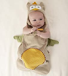 Baby Aspen ''My Little Night Owl'' Snuggle Sack and Cap, 0-6 months