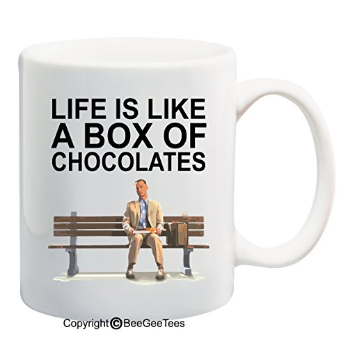 BeeGeeTees Life is like a box of chocolates! - Funny Forrest Gump Mug (15 oz)