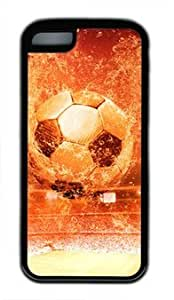 Soccer Ball DIY Rubber Black iphone 5C Case Perfect By Custom Service