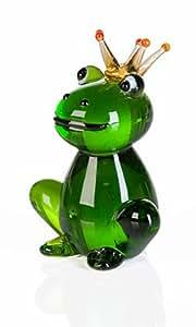 Rana con corona sonmás decoración de cristal en caja de regalo de la rana Príncipe caja de regalo