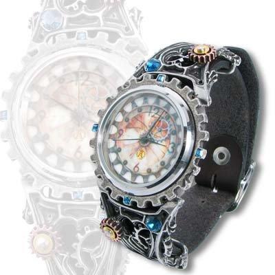 Alchemy Gothic Telford Chronocogulator Timepiece Watch (Fantasy Wrist Watch)