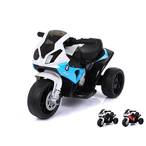 BMW S 1000 RR Deluxe Edition – Kinder Elektromotorrad Ride on original Design Lizenzmodell Superbike mit Sound, 6V Power…