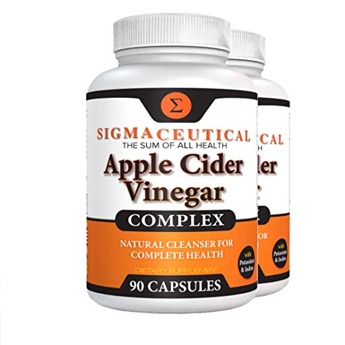 2 Pack of Apple Cider Vinegar Capsules – Blood Sugar, Weight Loss & Digestion Detox Support – 90 Capsules Each
