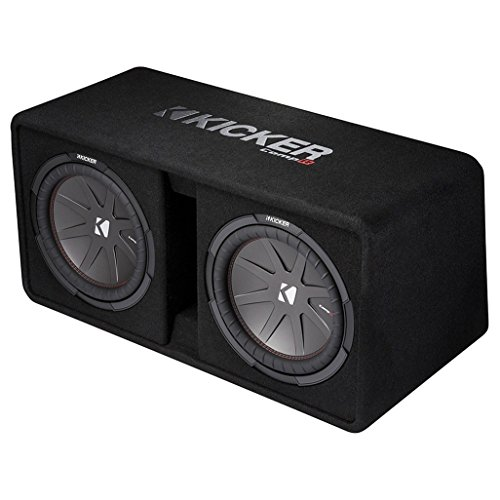 12' Vented Enclosure - Kicker Dual 43DCWR122 12-Inch 2000W Loaded Subwoofer Enclosure