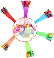 Self Sealing Water Balloons 6 Bunches 222 Balloons Quick Filling Magic Water Balloon for Party Games Swimming