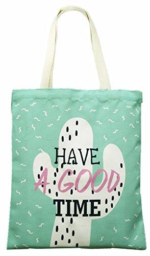Einkaufstasche Stofftasche Jutetasche Shopping Bag Tragetasche Good Time A-98