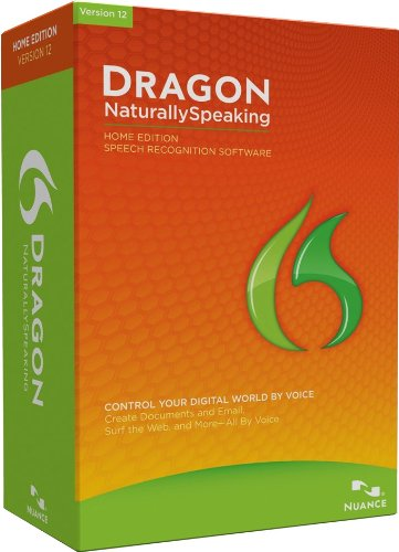 Dragon NaturallySpeaking Home 12.0, English (Old Version) by Nuance Dragon
