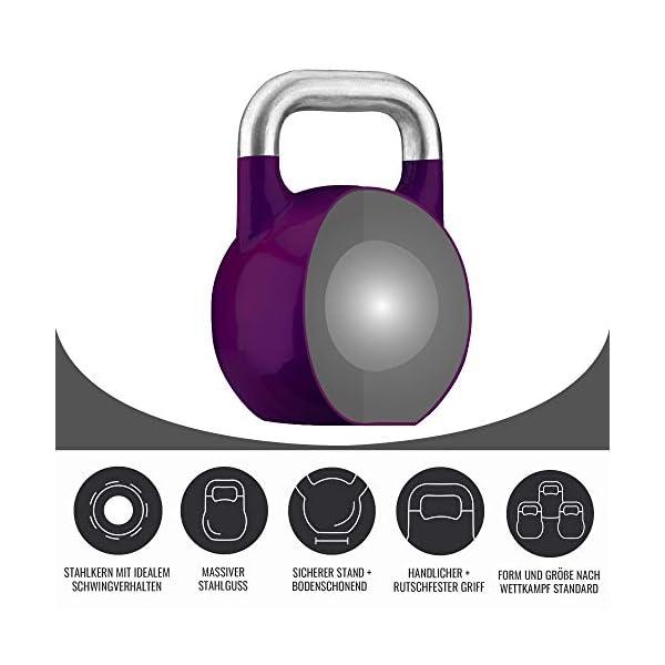 Gorilla Sports Kettlebells de compétition – De 8 KG à 40 KG