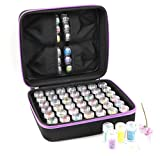 Esimen High Capacity Diamond Painting Beads for 40 Bottles - DIY Art Craft Jewelry Beads Sewing Pills Organizer Carrying Case -with Hard Shell Exterior and Foam Insert Perfect for Travel (Purple)