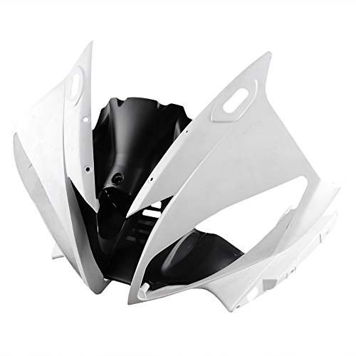 (Newsmarts Motorbike Unpainted ABS Plastic Front Upper Cowl Fairing for Yamaha YZF R6 2006 2007)
