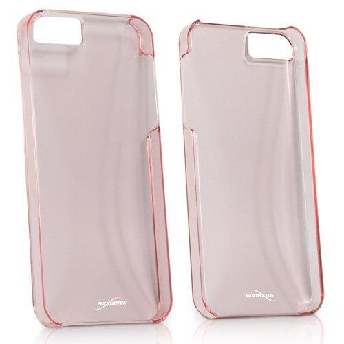 Coque Iphone se, BoxWave® [Coque Cristal avec chargeur Porte-clés Bonus] Coque fine, ultra léger, se, rigide Shell Housse Coque pour Apple iPhone 5S, 5–Rose Clair