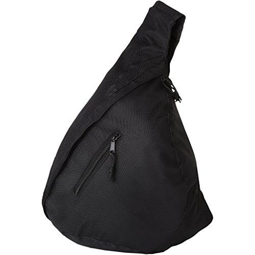 Bolso bandolera de hombro triángulo mochila en azul real negro