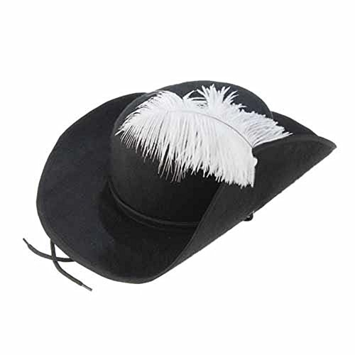 US Toy Musketeer Hat with Feather (Three Musketeers Costumes)