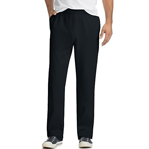 Hanes X-Temp Men's Jersey Pocket Pant Black 3XL