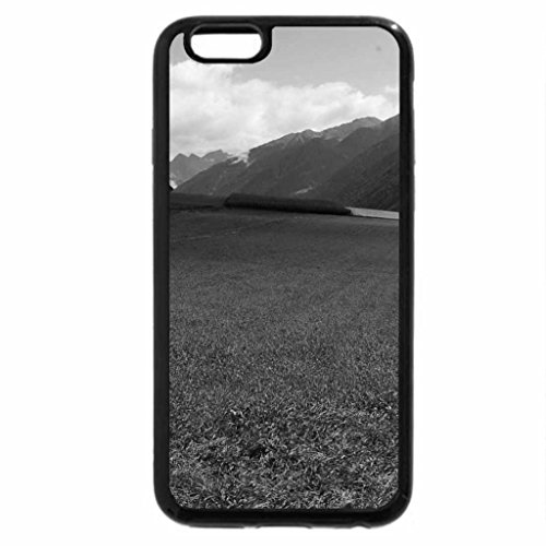 iPhone 6S Case, iPhone 6 Case (Black & White) - beautiful rural valley