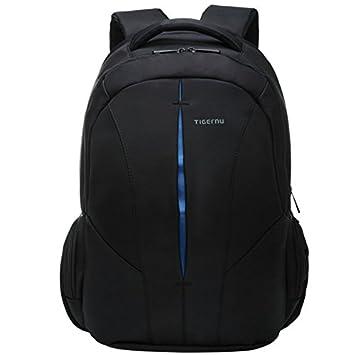 yacn Gran Capacidad Mochila para portátil Bolsa para ordenador portátil de/ mochila de nylon Fit de hasta 15,6, color BlackBlue 39,62 cm: Amazon.es: Oficina ...