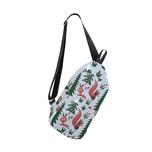Bennigiry Bag Bags Women One Christmas Squirrel Crossbody Men Sling For Shoulder Backpack Chest amp; rOrg8