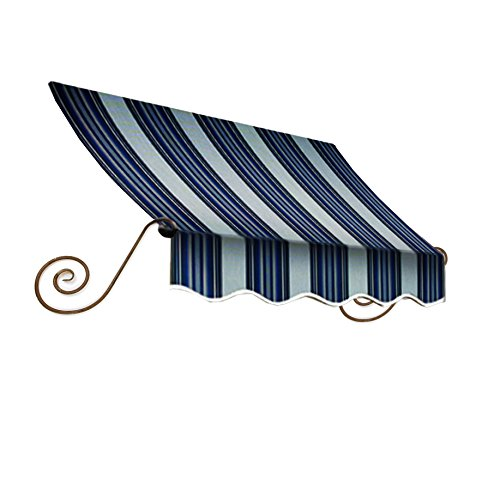 Awntech 3-Feet Charleston Window/Entry Awning, 18 by 36-Inch, Navy/Gray/White by Awntech