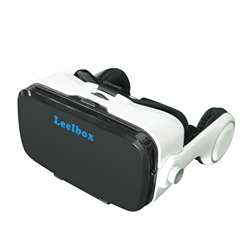 Leelbox-tech 3D VR Glasses Virtual Reality headset VR Headset google cardboard 360 Degree Videos 3D Movies Playing Immersive Games VR Headset Compatible with Smartphone 4 to 6 inch