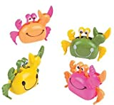 Fun Express Plastic Wind Up Summer Crab Party Favor Toys (1 Dozen)