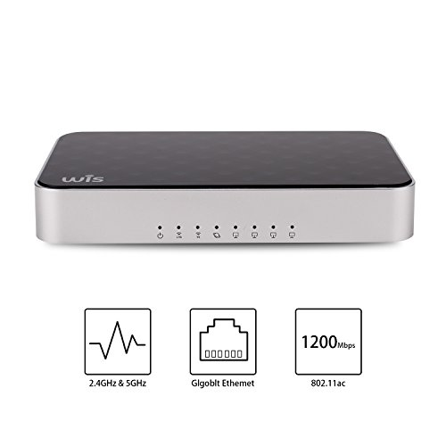 Wireless Smart WiFi Router - Dual Band Gigabit Wireless Internet Routers for Home,Works with Xbox, PlayStation, PC, Whole Home WIFI System Parental Controls (AC1200) by WISVIVO