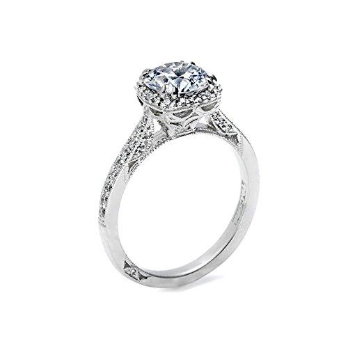 Tacori Semi Mount Diamond Engagement Ring in 18K White Gold (1/4 cttw) ()