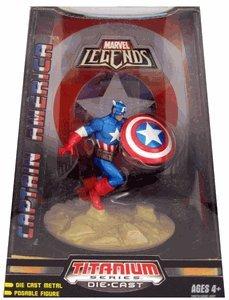 Marvel Legends Titanium Series Die Cast Figure: Captain America